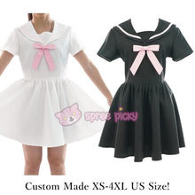 Load image into Gallery viewer, Custom Made XS-4XL Black/White Sailor Seifuku Dress SP152309 - SpreePicky  - 3