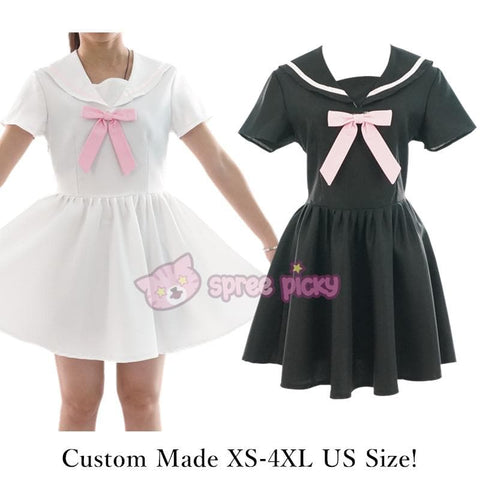 Custom Made XS-4XL Black/White Sailor Seifuku Dress SP152309 - SpreePicky  - 3