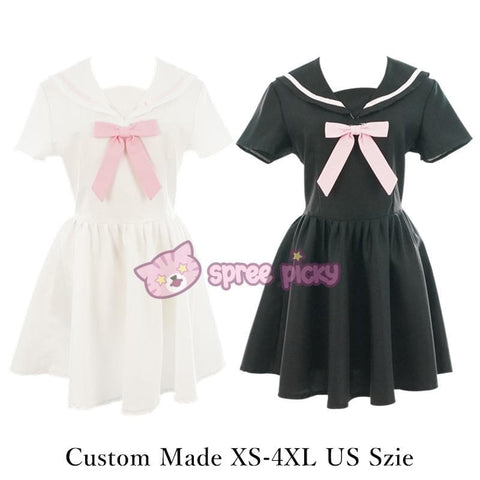 Custom Made XS-4XL Black/White Sailor Seifuku Dress SP152309 - SpreePicky  - 2