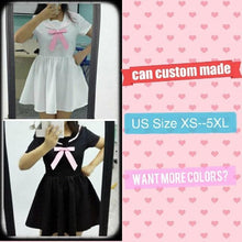Load image into Gallery viewer, Custom Made XS-4XL Black/White Sailor Seifuku Dress SP152309 - SpreePicky  - 4