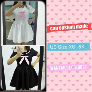 Custom Made XS-4XL Black/White Sailor Seifuku Dress SP152309 - SpreePicky  - 4