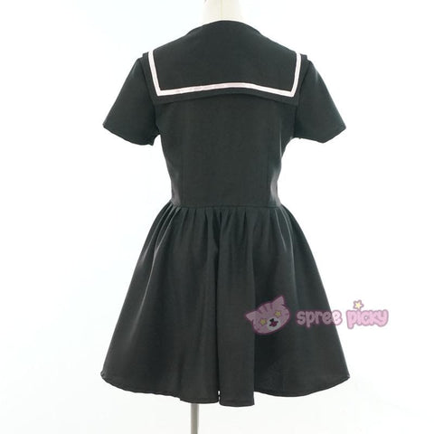 Custom Made XS-4XL Black/White Sailor Seifuku Dress SP152309 - SpreePicky  - 9