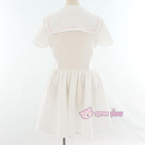 Custom Made XS-4XL Black/White Sailor Seifuku Dress SP152309 - SpreePicky  - 11