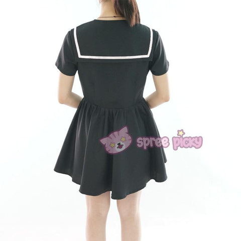 Custom Made XS-4XL Black/White Sailor Seifuku Dress SP152309 - SpreePicky  - 7