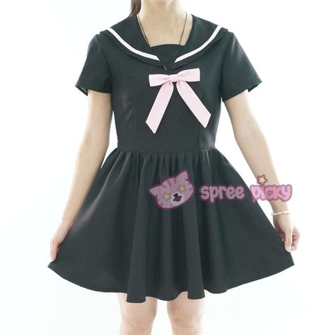 Custom Made XS-4XL Black/White Sailor Seifuku Dress SP152309 - SpreePicky  - 6
