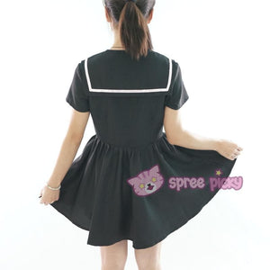 Custom Made XS-4XL Black/White Sailor Seifuku Dress SP152309 - SpreePicky  - 8