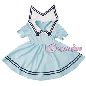 Custom Made XS-4XL Blue/White Sailor Dress SP152311 - SpreePicky  - 2