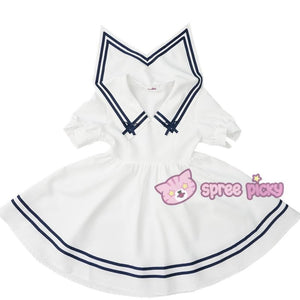 Custom Made XS-4XL Blue/White Sailor Dress SP152311 - SpreePicky  - 3