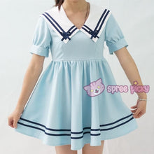 Load image into Gallery viewer, Custom Made XS-4XL Blue/White Sailor Dress SP152311 - SpreePicky  - 4