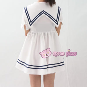 Custom Made XS-4XL Blue/White Sailor Dress SP152311 - SpreePicky  - 6