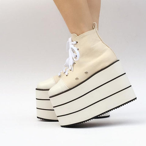 Custom Super High Layers Canvas Shoes SP167694