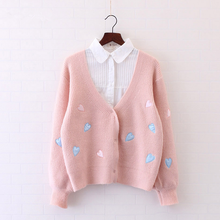 Load image into Gallery viewer, Cute Heart Pattern Cardigans Sweater SP166971