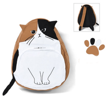 Load image into Gallery viewer, 4 Colors Cute Kawaii Cat Canvas Backpack SP166888