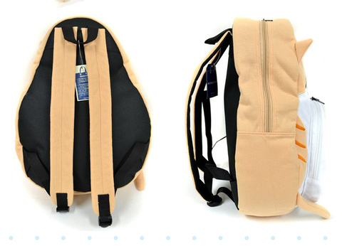 4 Colors Cute Kawaii Cat Canvas Backpack SP166888