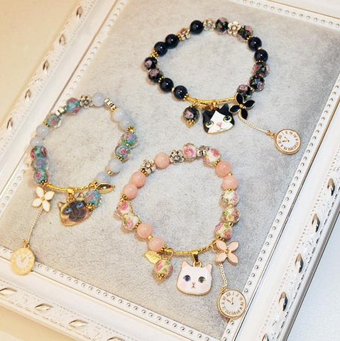Cute Kitty Flower Watch Bracelet SP1812096