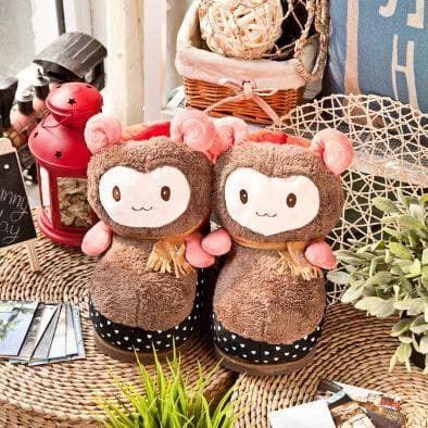 Cutie Alpaca Couple Slippers Shoes SP153522 - SpreePicky  - 6