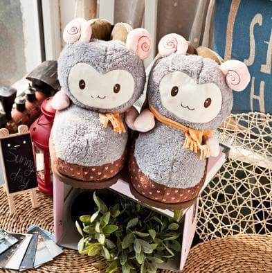 Cutie Alpaca Couple Slippers Shoes SP153522 - SpreePicky  - 8