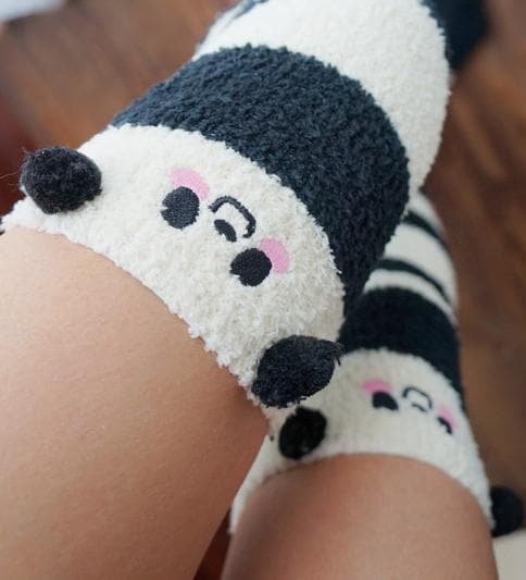 Cutie Animal Fleece Thigh High Long Socks SP154247 - SpreePicky  - 12
