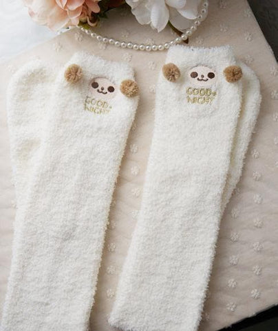 Cutie Animal Fleece Thigh High Long Socks SP154247 - SpreePicky  - 6