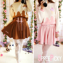 Load image into Gallery viewer, Cutie Creamy Chocolate Strawberry Cappuccino Jumper Skirt Set SP178854