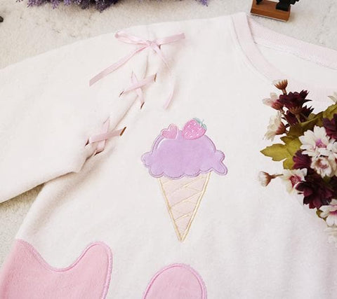 Cutie Creamy Chocolate Strawberry Cappuccino Jumper Skirt Set SP178854