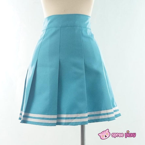 Daily Cosplay Sailor Moon Sailor Neptune Kaiou Michiru Sea Green Seifuku Uniform Top/Skirt/Bow SP151749/SP151750 - SpreePicky  - 6