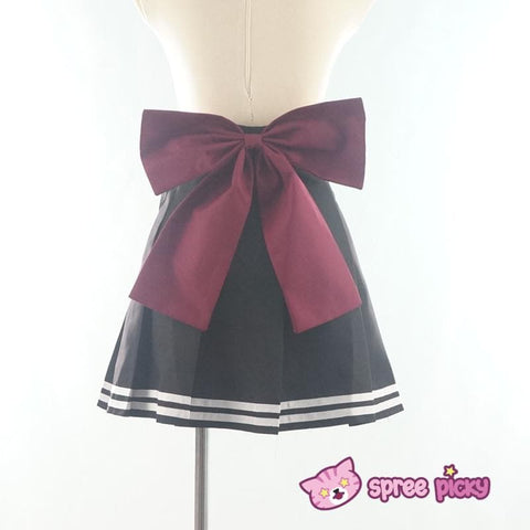 Daily Cosplay [Sailor Moon] Sailor Pluto Setsuna Meiou Sailor Seifuku Black Uniform Top/Skirt/Bow SP151873/SP151874 - SpreePicky  - 8