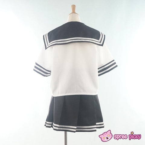 Daily Cosplay [Sailor Moon] Sailor Pluto Setsuna Meiou Sailor Seifuku Black Uniform Top/Skirt/Bow SP151873/SP151874 - SpreePicky  - 4