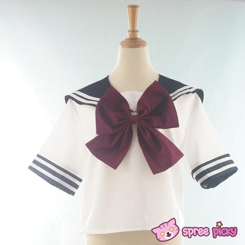 Daily Cosplay [Sailor Moon] Sailor Pluto Setsuna Meiou Sailor Seifuku Black Uniform Top/Skirt/Bow SP151873/SP151874 - SpreePicky  - 5