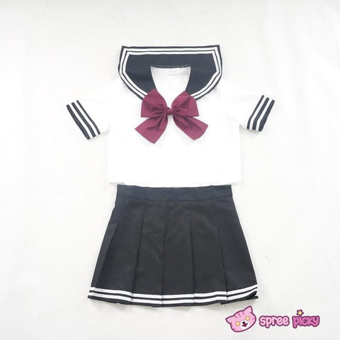 Daily Cosplay [Sailor Moon] Sailor Pluto Setsuna Meiou Sailor Seifuku Black Uniform Top/Skirt/Bow SP151873/SP151874 - SpreePicky  - 1