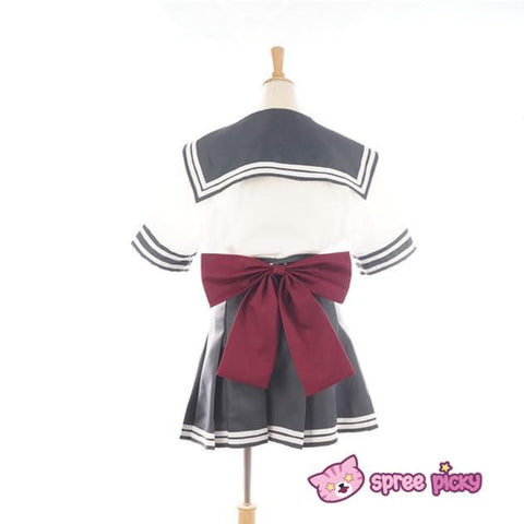 Daily Cosplay Sailor Moon Sailor Pluto Setsuna Meiou Sailor Seifuku Grey Uniform Top/Skirt/Bow SP151751/2 - SpreePicky  - 4