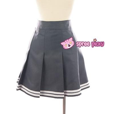 Daily Cosplay Sailor Moon Sailor Pluto Setsuna Meiou Sailor Seifuku Grey Uniform Top/Skirt/Bow SP151751/2 - SpreePicky  - 6
