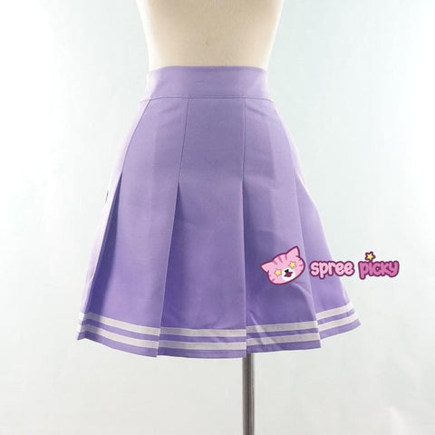 Daily Cosplay [Sailor Moon] Sailor Saturn Tomoe Hotaru Light Purple Seifku Top/Skirt/Bow SP151871/SP151872 - SpreePicky  - 7