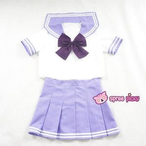 Daily Cosplay [Sailor Moon] Sailor Saturn Tomoe Hotaru Light Purple Seifku Top/Skirt/Bow SP151871/SP151872 - SpreePicky  - 2