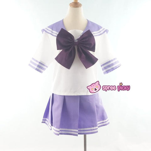 Daily Cosplay [Sailor Moon] Sailor Saturn Tomoe Hotaru Light Purple Seifku Top/Skirt/Bow SP151871/SP151872