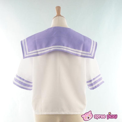 Daily Cosplay [Sailor Moon] Sailor Saturn Tomoe Hotaru Light Purple Seifku Top/Skirt/Bow SP151871/SP151872 - SpreePicky  - 6