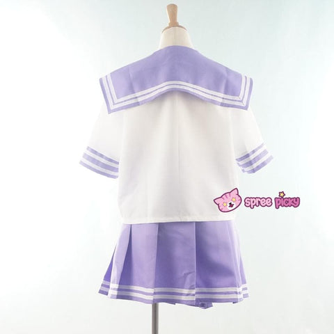 Daily Cosplay [Sailor Moon] Sailor Saturn Tomoe Hotaru Light Purple Seifku Top/Skirt/Bow SP151871/SP151872 - SpreePicky  - 3
