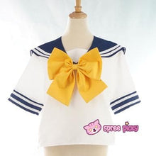 Load image into Gallery viewer, Daily Cosplay Sailor Moon Sailor Uranus Tenoh Haruka Sailor Seifuku Uniform Top/Skirt/Bow SP151747/8 - SpreePicky  - 5