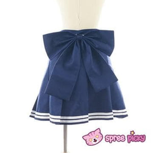 Daily Cosplay Sailor Moon Sailor Uranus Tenoh Haruka Sailor Seifuku Uniform Top/Skirt/Bow SP151747/8 - SpreePicky  - 8