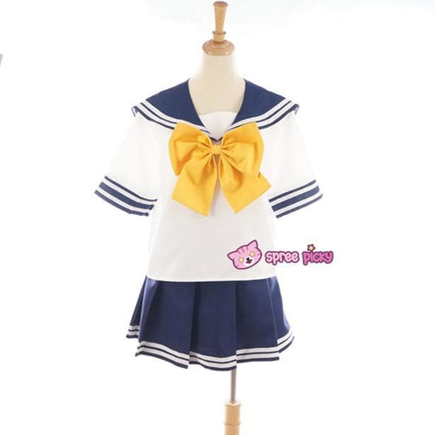Daily Cosplay Sailor Moon Sailor Uranus Tenoh Haruka Sailor Seifuku Uniform Top/Skirt/Bow SP151747/8 - SpreePicky  - 2