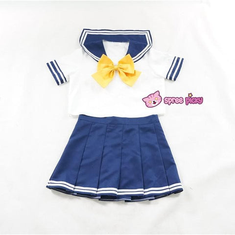 Daily Cosplay Sailor Moon Sailor Uranus Tenoh Haruka Sailor Seifuku Uniform Top/Skirt/Bow SP151747/8 - SpreePicky  - 4