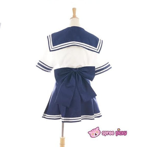 Daily Cosplay Sailor Moon Sailor Uranus Tenoh Haruka Sailor Seifuku Uniform Top/Skirt/Bow SP151747/8 - SpreePicky  - 3