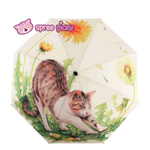 Load image into Gallery viewer, Daisy Kitty Sun-Rain 3 Fold Umbrella SP153343 - SpreePicky  - 1