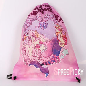 [Danipandi Design] Mermaid Call My Shellphone Drawstring Backpack SP179142