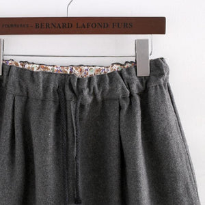 Dark Grey Kawaii Kitten Elastic Waist Skirt SP154035 - SpreePicky  - 4
