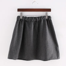 Load image into Gallery viewer, Dark Grey Kawaii Kitten Elastic Waist Skirt SP154035 - SpreePicky  - 3