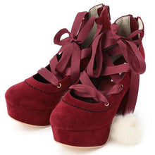 Load image into Gallery viewer, Dark Red/Pink/Beige Sweet Lady High Heel Shoes SP168556