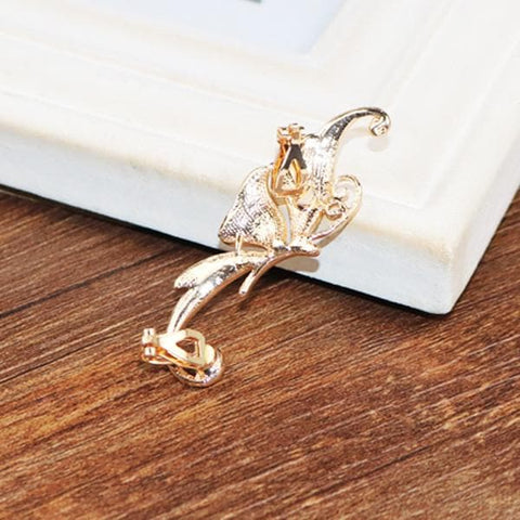 Diamond Butterfly Ear Cuff SP179293