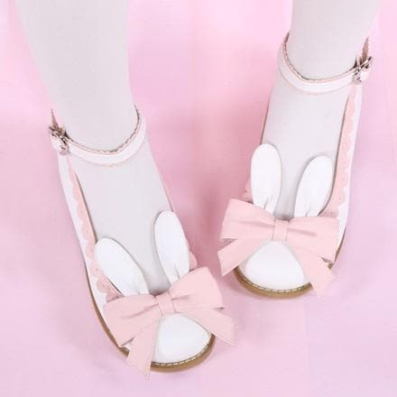 EU 32-44 Lolita Cutie Bunny Bowknot Princess Shoes SP153064 - SpreePicky  - 2