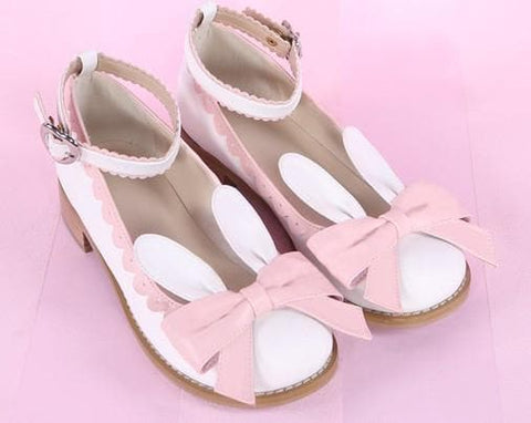 EU 32-44 Lolita Cutie Bunny Bowknot Princess Shoes SP153064 - SpreePicky  - 3